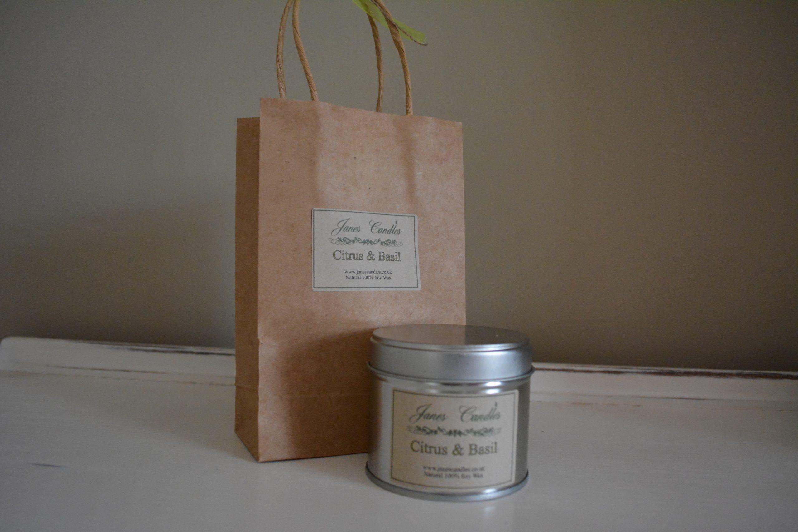 Citrus & Basil 30cl Tin Candle