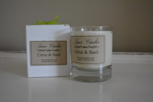 Citrus and Basil 30cl Jar Candle