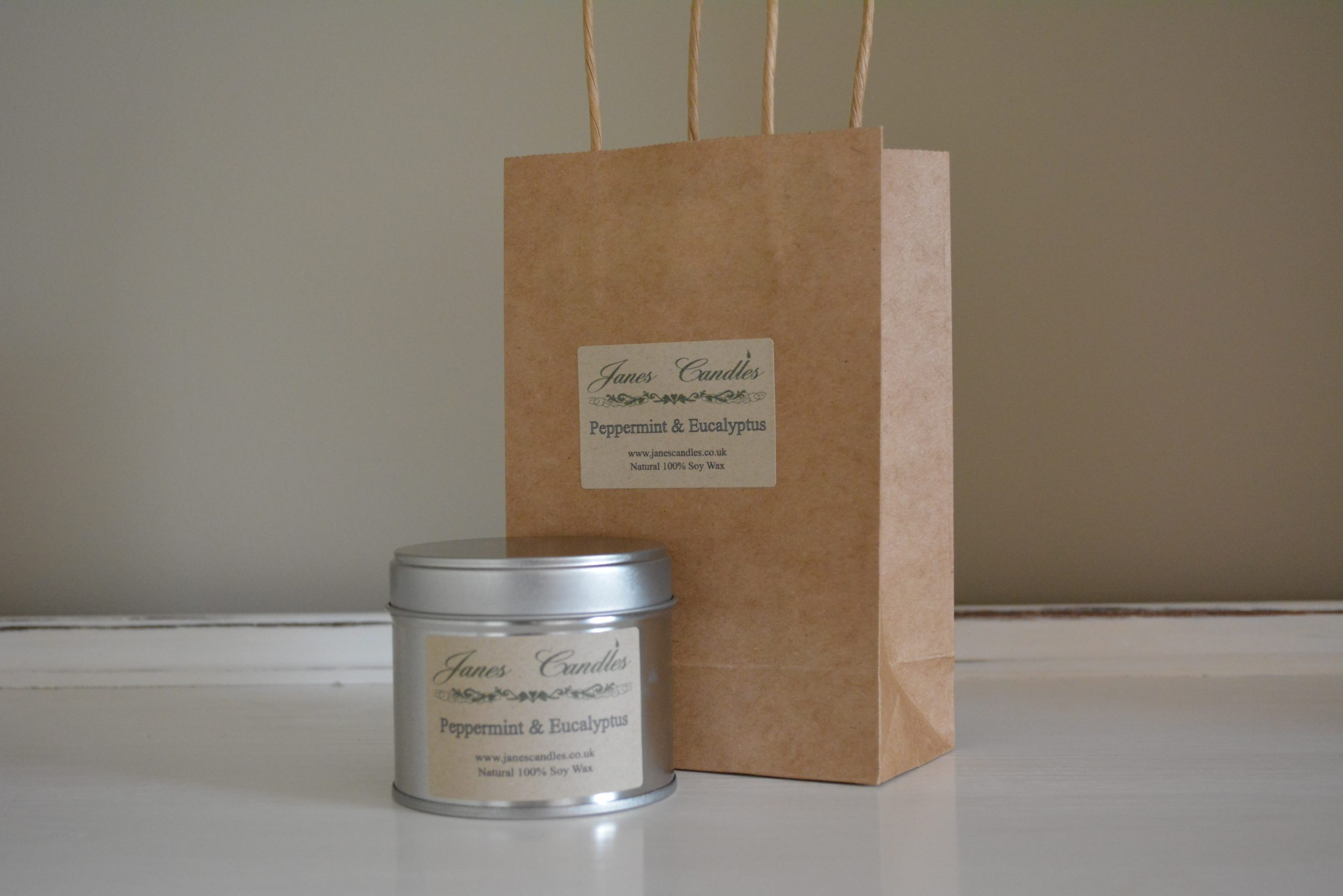 Peppermint & Eucalyptus Tin Candle