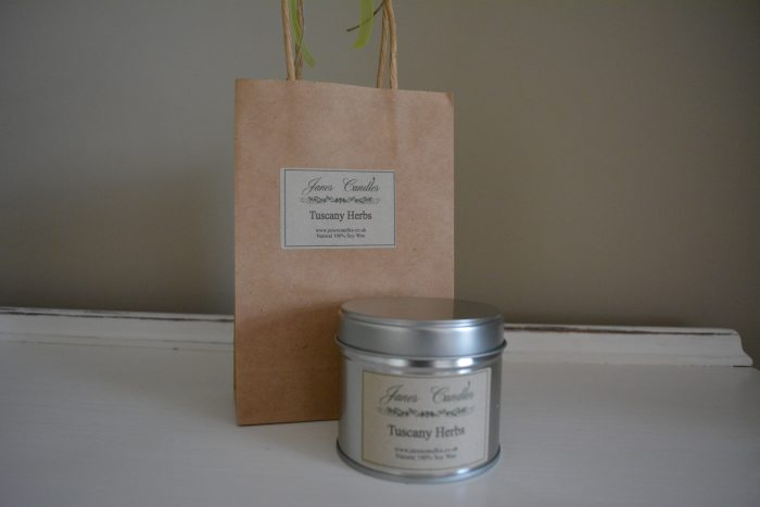 Tuscany Herb 30cl Tin Candle