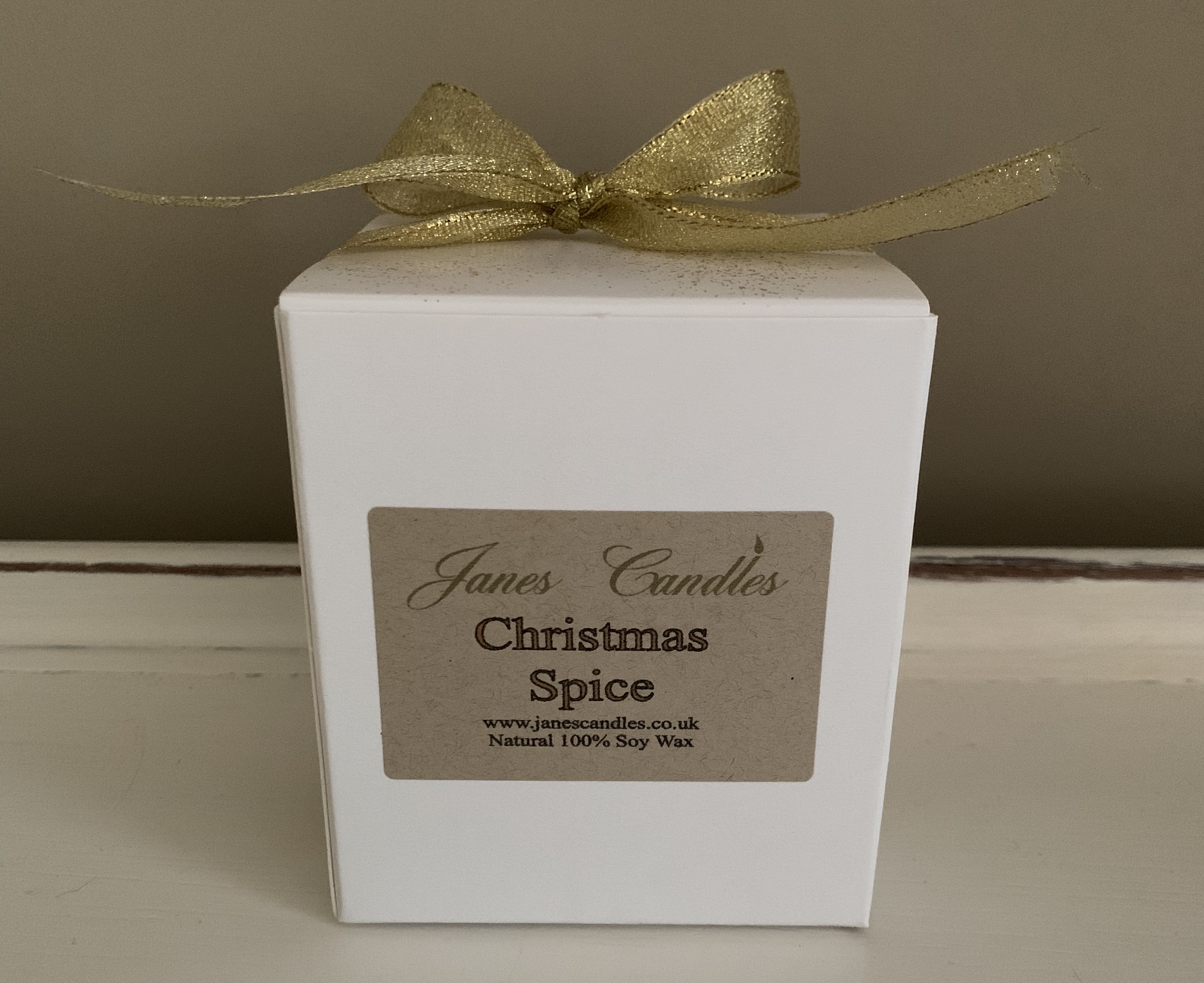 Christmas Spice Candle Packaging