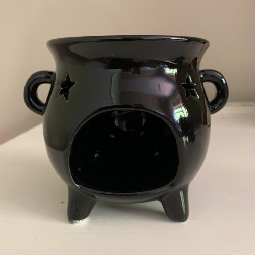 Black cauldron wax melter oil burner