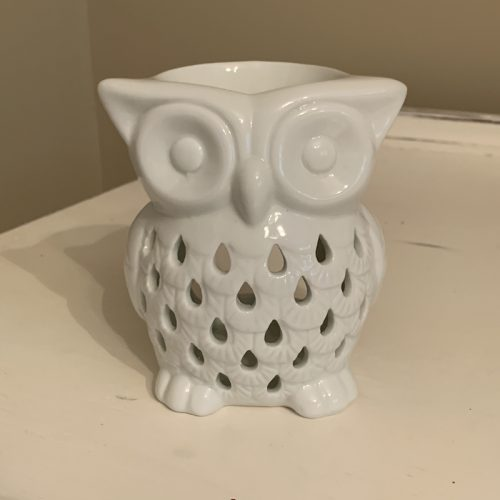 Ceramic White Owl
