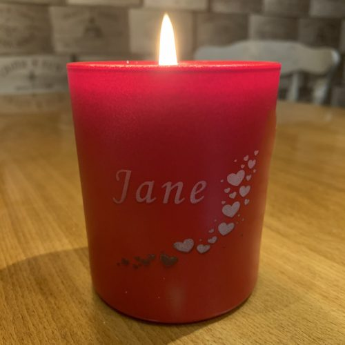 Love Hearts Valentine Candle