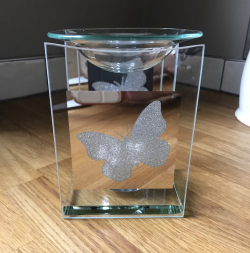 Mirrored Butterfly Wax Melter/OilBurner